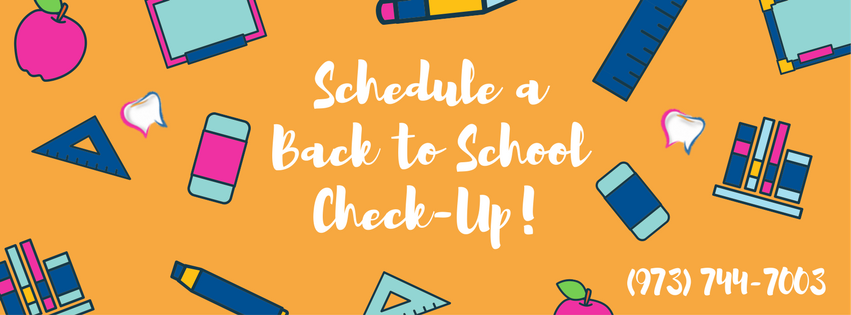 Schedule a back to school check-up! 973-744-7003